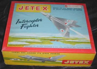 Jetex Interceptor Fighter kit box