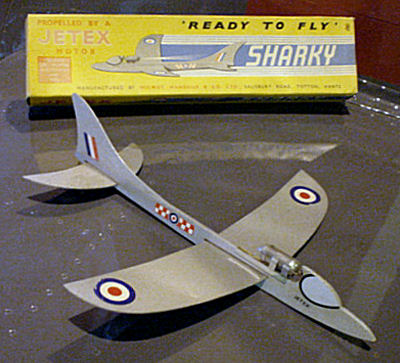 Jetex Sharky in Solent Sky Museum