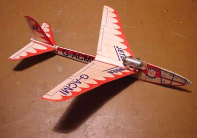Jetex Wren replica by Howard Metcalfe