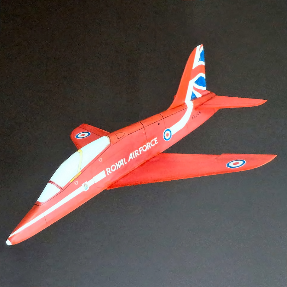 Original Jetex.org Profile Models - Red Arrows Hawk